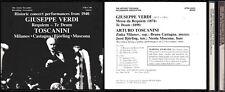 CD- GIUSEPPE VERDI - REQUIEM TE DEUM - TOSCANINI-- MILANOV CASTAGNA-- 2 CD- ZCD4