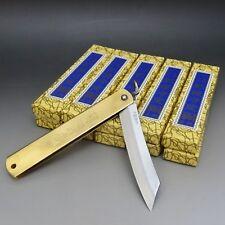 HIGONOKAMI x 10 Blue Paper Steel Japanese Folding Pocket Knife XL NAGAOKOMA