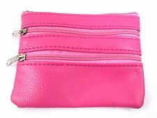 LADIES KIDS SMALL COIN CREDIT CARD HOLDER & KEY RING HOLDER WALLET POUCH PURSE