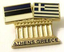Pin Spilla Olimpiadi Athens 2004 Greece/Estonia Flags