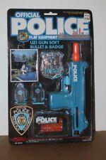 Vintage 1990 MANLEY Official Police Play Equipment Uzi Gun Soft Bullet & Badge