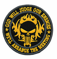 GOD WILL JUDGE OUR ENEMIES PUNISHER TALIBAN NAVY SWAT PATCH YELLOW