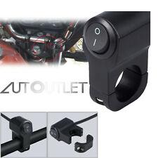 Manillar de Moto Luz de Niebla de Faro Con Interruptor 12V 10A Negro Impermeable
