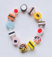Stunning Liquorice All-sorts &  Crystal Bracelet Version 1
