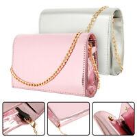 Womens Envelope Metallic Clutch Bag Purse Soirée Sacs à main de mariée mariage