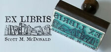 Custom Bookshelf Ex Libris bookplate rubber stamp by Amazing Arts