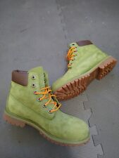 """TIMBERLAND  6""""  Boots Boys Size 7 Olive Military Green A1630 Leather"""
