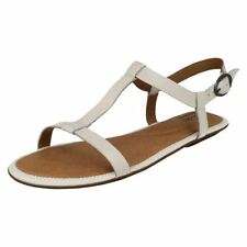 Buckle Leather T-Strap Casual Sandals & Flip Flops for Women