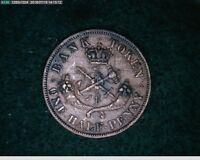 1854 1/2 Penny Upper Canada Bank Token old penny (65s172 )