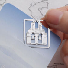 Mini Metal Bookmark Clip Greece Santorini Island Travel Souvenir Steel Index
