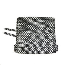 Mr Lacy Ropies - White & Black Shoelaces - 130cm Length 5.5mm Width