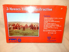 IHC VINTAGE #711 3 HOUSES UNDER CONSTRUCTION-NOS-STILL SEALED IN PLASTIC WRAP!--