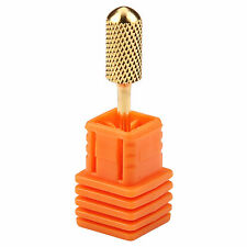 """Pro Gold Carbide Nail Art Drill File Clean Broach Bit Replacement Tool F 3/32"""""""