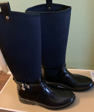 Michael Kors Women's Charm Stretch Rainboot Black Size US 10M 94 New In Box