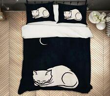 3D Moon Kitten A057 Bed Pillowcases Quilt Duvet Cover Boris Draschoff Zoe