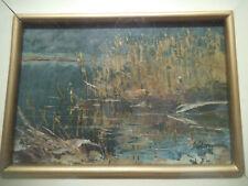 QUADRO AD OLIO degli anni 70' del pittore lombardo AMBROGIO VISMARA 1900-1994 -