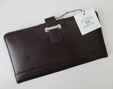 NWT Cutter & Buck American Classic Collection Brn Genuine Leather Travel Wallet