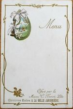 Chicoree Ad 1900 French Menu - La Belle Jardiniere Advertising, Color Litho