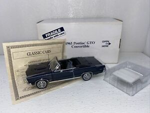 1/24 Danbury Mint 1965 Pontiac GTO Convertible Nightwatch Blue VERY RARE