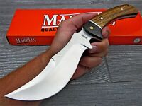 Marble's Wide Bellied Skinner Upswept Fixed Blade Zebra Wood Hunting Knife
