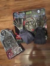 Zombie Ground Breaker Outdoor Halloween Decoration & 4pk Of Tombstones New