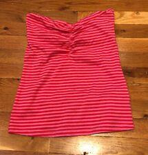 e32071e70f New H   M Pink Red Striped Strapless Tube Top Junior Women s Medium NWT