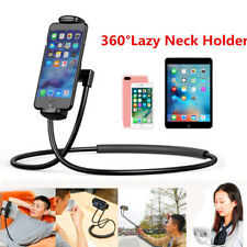 360 Degree Rotation Lazy Bendable Flexible Hang Neck Phone Holder Stand US Stock