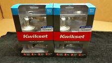 Lot 2 New Kwikset Tustin Privacy Bed/Bath Door Lever Lock Satin Nickel 97300-817