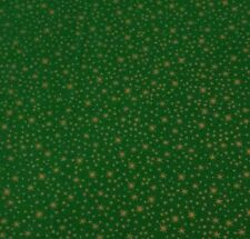Holiday Metals Gold Stars Quilting Treasures BTY Gold Metallic Green Christmas