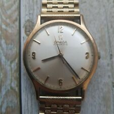 Omega Automatic 9 K Solid Gold Case With Original Box And Papers