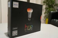 x2 Hue Colour Smart LED Light Bulbs, E27, plus Hue Bridge V.1