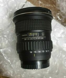Tokina AT-X PRO 11-16mm f/2.8 SD IF DX Lens for Nikon FREE FAST DELIVERY FROM UK