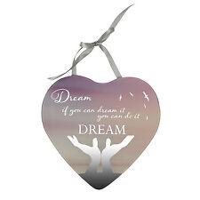 Dream puoi farlo riflessi dal cuore con specchio Appeso Placca Regalo