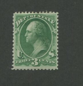 1873 United States State Dept. Official Stamp #O59 F/VF Mint Hinged Disturbed OG