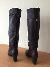 Chanel Brown Boots Size 37, Uk 4 Lovely! Last Listing