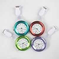Nurse Watch Brooch Silicone Quartz Clip Tunic Pocket Fob Nursing Nurses Watch