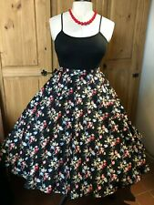 Devil & Desire Tulip Bouquet Floral Retro Full Circle Rockabilly 50's Skirt
