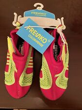 *NEW!* Fresko Toddler size 7 Girls Pink & Green WATER AQUA POOL BEACH SHOES