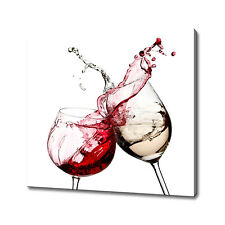 Red white wine canvas print picture wall art home decor free fast delivery