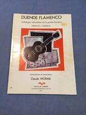 Duende Flamenco volume 2 A la buleria CLAUDE Vermi spagnola per chitarra punteggio SCHEDA RARA