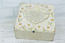 Sister Memory Box Keepsake Chest Daisies Wooden Treasured Daisy Gift  SG1689