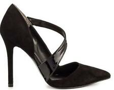 GUESS BIVONA2 Closed Pointed Toe Strap Open Side HEELS Black Multi 10 US