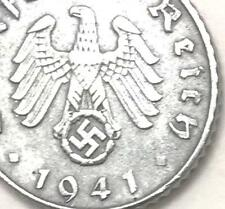Rare Old Antique Vintage WW2 WWII Nazi Germany War Eagle Coin with SWASTIKA