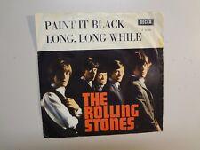 """ROLLING STONES: Paint It, Black- Long Long While-Belgium 7"""" 66 Decca F 12395 PSL"""