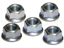 """Wheels Manufacturing 3/8"""" (9.5mm) x 26tpi Flanged Bicycle Axle Nuts - Set of 5"""