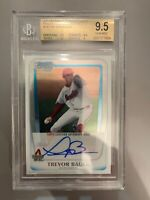 BGS 9.5 GEM MINT Bowman Draft CHROME TREVOR BAUER ROOKIE RC DODGERS