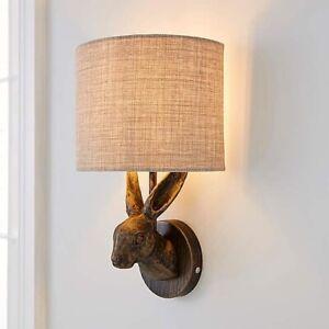 Antique Brass Shaped Hare Rabbit Bronze Wall Light