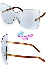 Authentic FENDI Shield Sunglasses FS5273 424-65-20-135  Blue 100% UVA and UVB