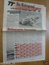 1989 SPECIAL NEWSPAPER DE TELEGRAAF DUTCH TT ASSEN GRAND PRIX MOTO GP,SCHWANTZ