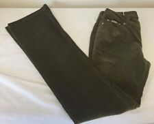 NWT Junior Girls Olive Green Clash 5 Pocket Straight Leg Corduroy Pants 1